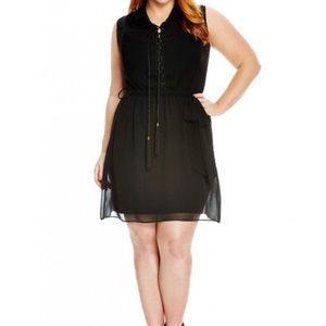 City Chic Dresses - City Chic Lace Up Tunic Dress L 2X 20 NWT